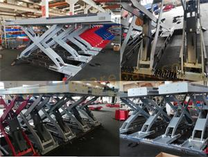 Decar Grey, Red and Blue scissor lift are ready to deliery to customer on time.